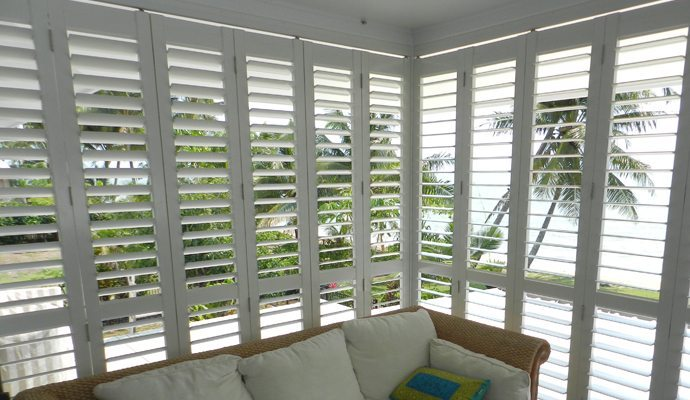 Exterior Plantation Shutters - Shade and Shutter Systems Inc ...